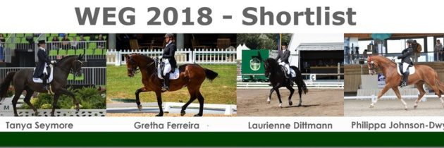 Shortlist for WEG 2018