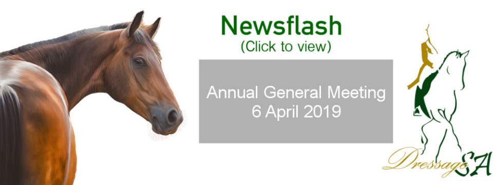Notice of the Annual General Meeting of Dressage SA
