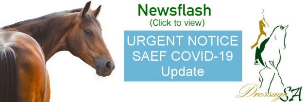 Urgent Notice: SAEF COVID-19 Update