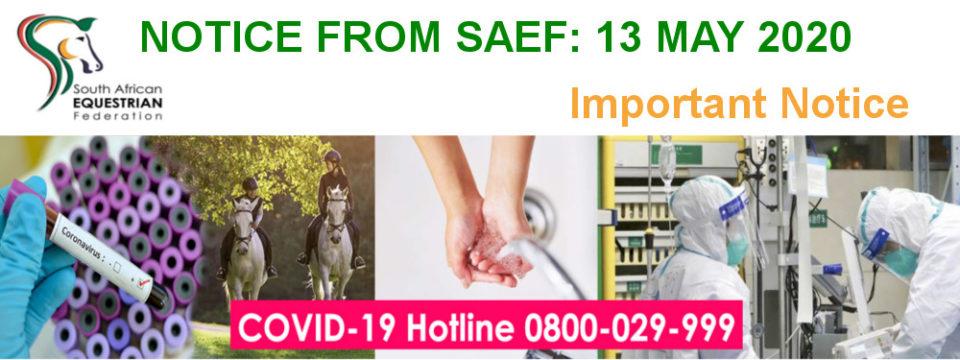 Notice: SAEF