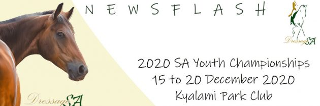SA Youth Championships: 15 to 20 December 2020