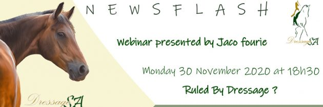 Webinar Presented by Jaco Fourie: 30 November at 18h30