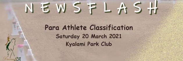 Para Athlete Classification