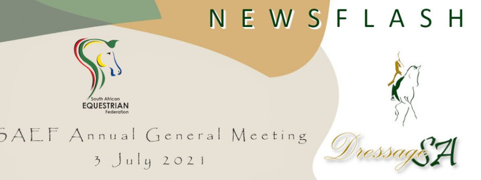 Elective SAEF AGM – 3 July 2021